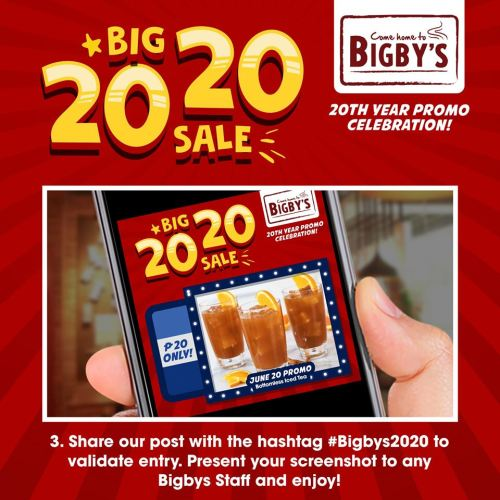 Bigby's Cafe and Restaurant Big 20 20 Sale step3