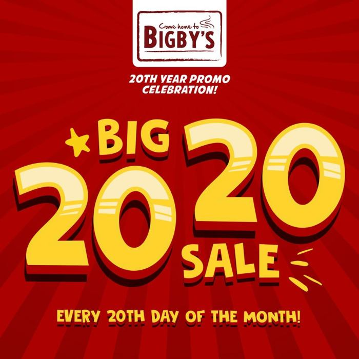 Bigby's Cafe and Restaurant Big 20 20 Sale