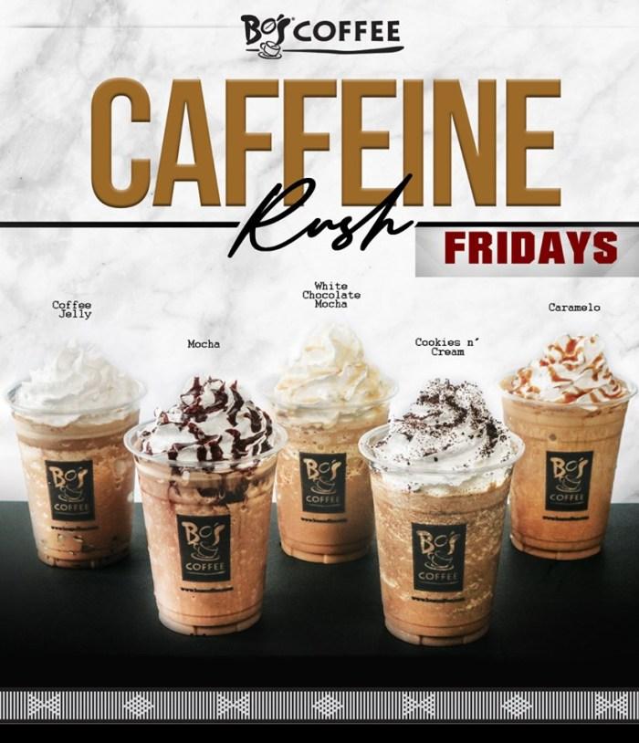 Bo's Coffee Caffeine Rush Fridays all