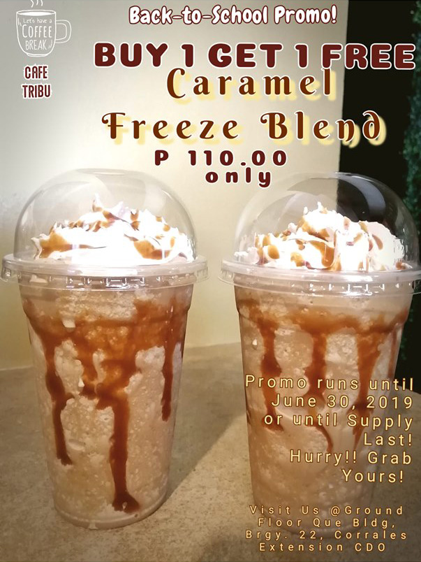 CaféTribu Buy 1 Take Caramel Freeze Blend
