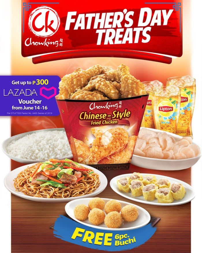 Chowking Father's Day Treats