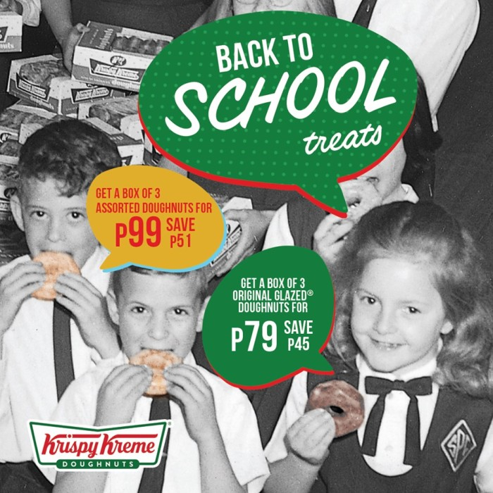 Krispy Kreme Back to School Treats