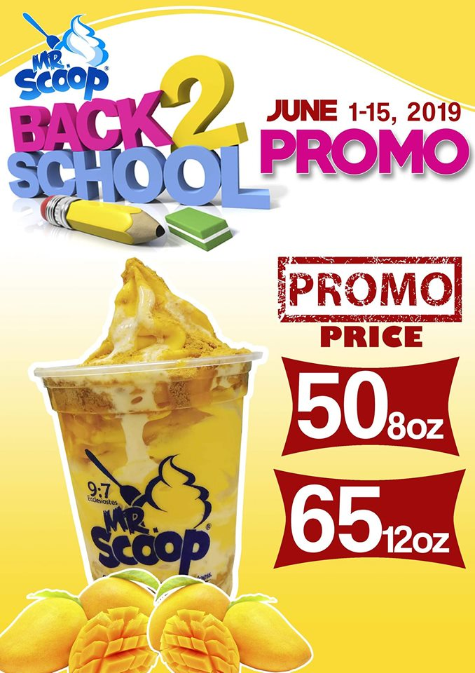 Mr Scoop Ice Cream Back to School Promo