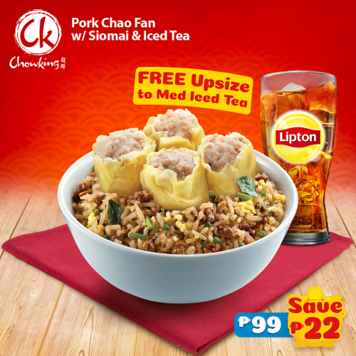 Pork Chao Fan with Siomai and Free Upsize to Medium Iced Tea