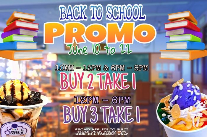 Sams Halo Halo and Ice Desserts Back to School Promo