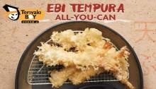 Teriyaki Boy Ebi Tempura with iced tea All-You-Can FI SM Uptown FI