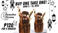 The Backyard Grill Ramadan Treat Buy 1 Take 1 Crazy Shakes FI