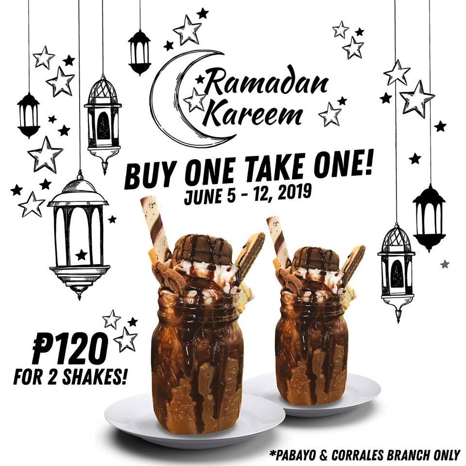 The Backyard Grill Ramadan Treat Buy 1 Take 1 Crazy Shakes