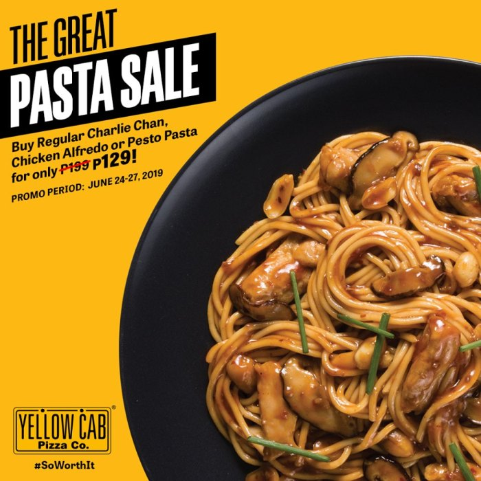 The Great Pasta Sale at Yellow Cab