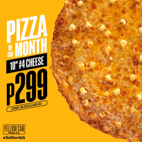 Yellow Cab #4 Cheese for P299