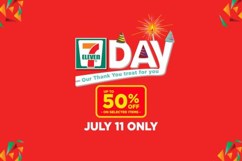 7-eleven 50% off July 11 only