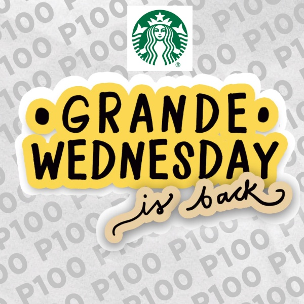 starbucks grande wednesday is back with logo