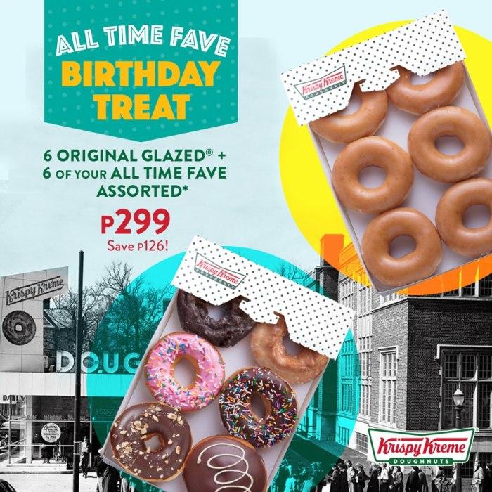 Krispy Kreme All Time Fave Birthday Treat