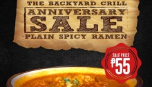 The Backyard Grill Anniversary Sale FI