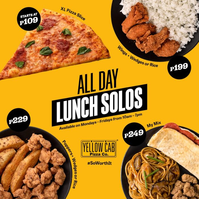 Yellow Cab Pizza All Day Lunch Solos
