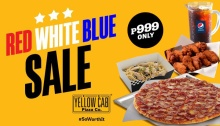 Yellow Cab Pizza Red White Blue Sale FI