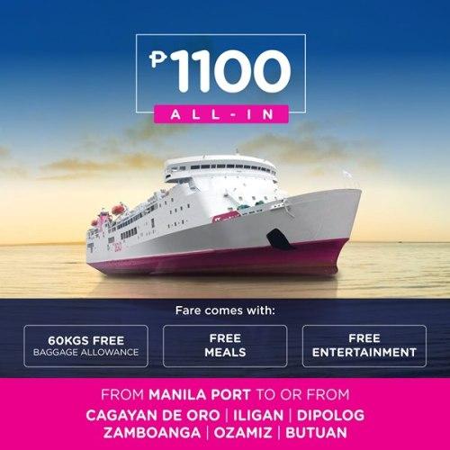 2Go Ninoy Aquino Day Sea Sale Manila to CDO