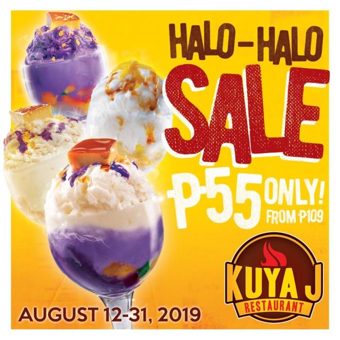 Kuya J Restaurant Halo-Halo Sale