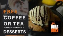 Ribs and Bibs FREE Coffee or Tea FI