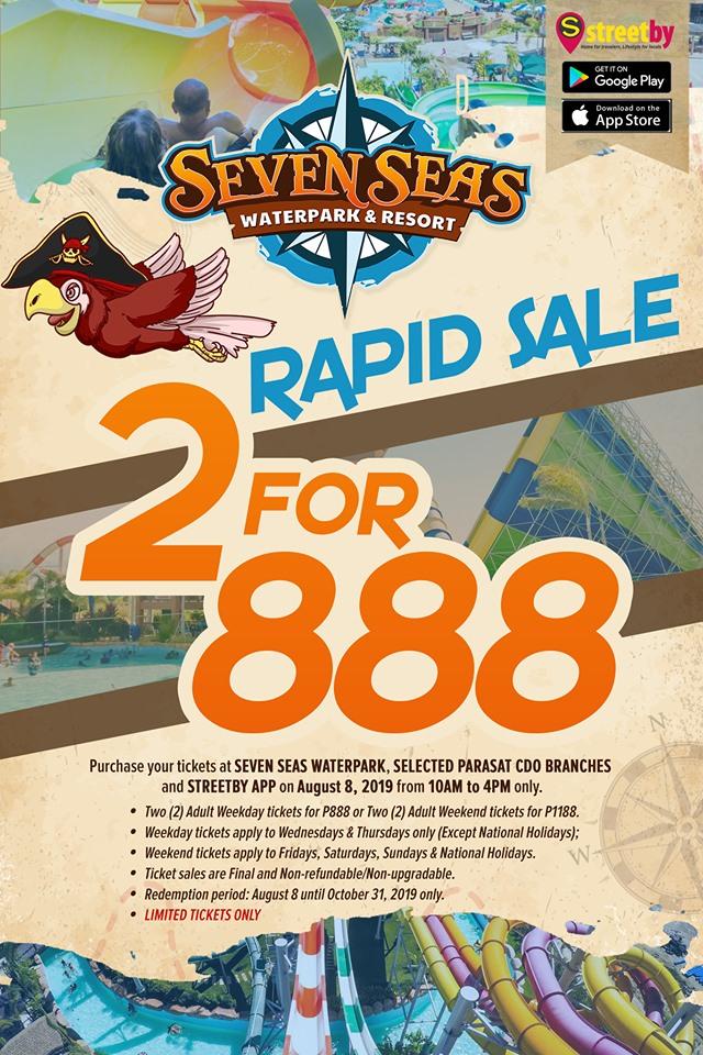 Seven Seas Waterpark Rapid Sale 2 for P888