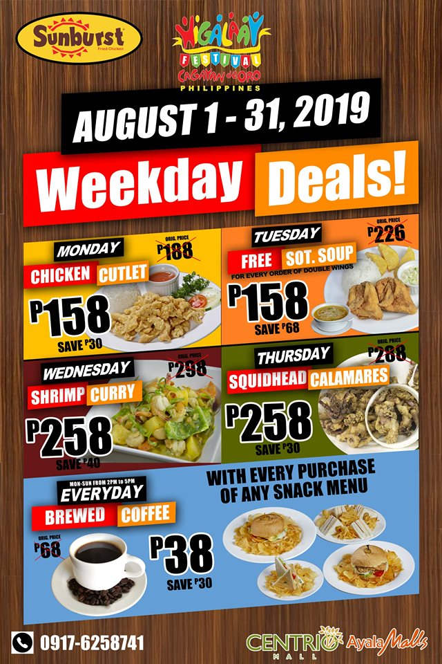 Sunburst Weekday Deals