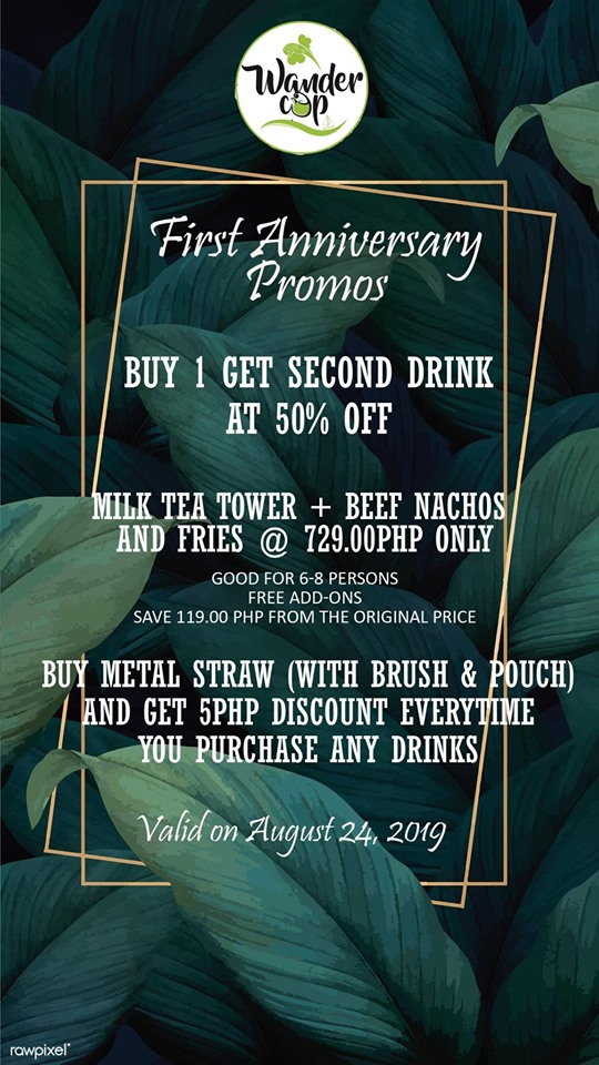 Wandercup First Anniversarry Promos