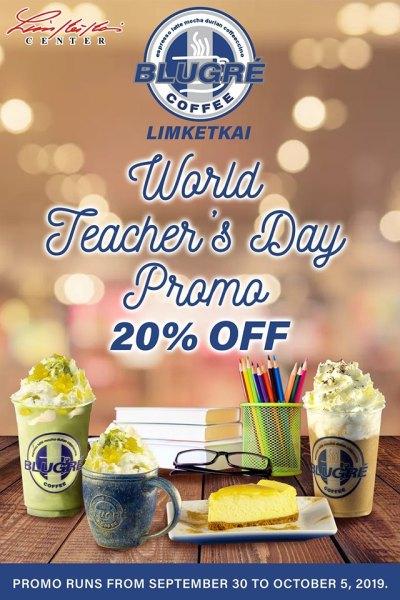 Blugre Coffee Limketkai Teacher's Day Promo
