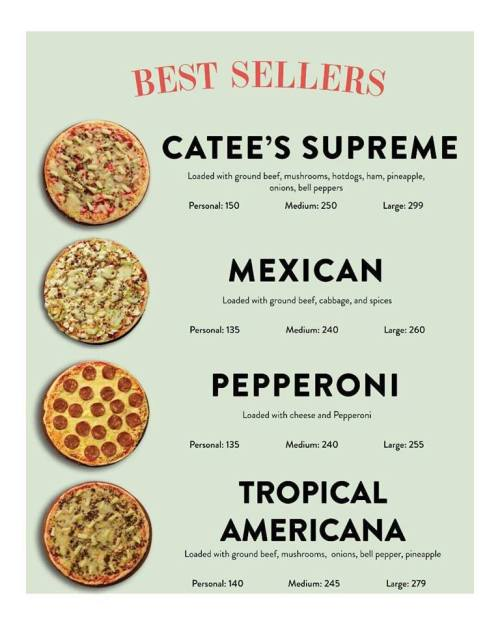 Catee's pizza best sellers