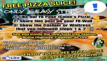 catee's pizza free pizza FI