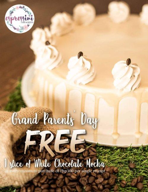 Espressini Cafe & Resto FREE White Chocolate Mocha for Lolo and Lola at