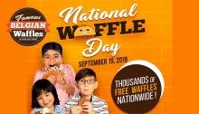famous bellgian waffle national waffle day FI