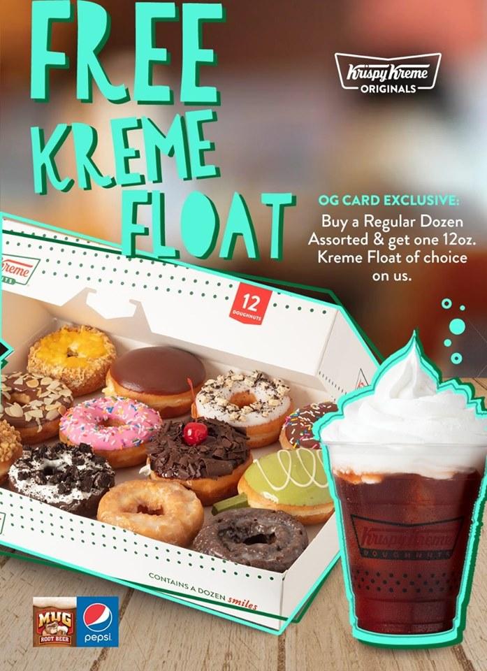 FREE Kreme Float for Krispy Kreme OG Members