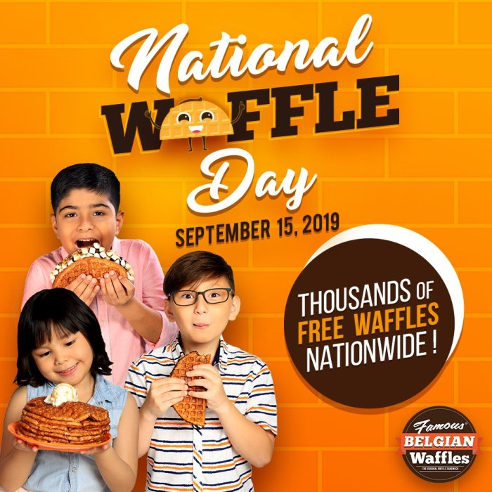 FREE Waffles at the Famous Belgian Waffles on National Waffles Day