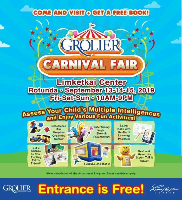 Get a FREE Book at Grolier Interactive Carnival Fair