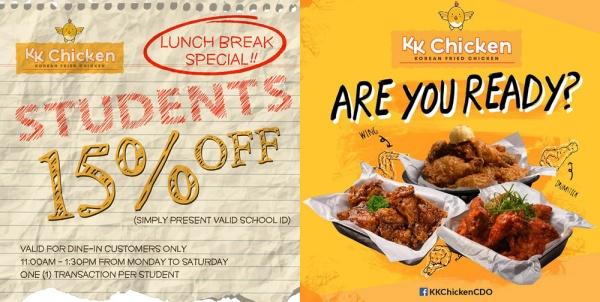 KK Chicken student promo
