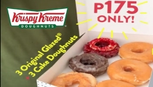 Krispy Kreme 3 Original 3 Cake Dougnuts for P175 FI