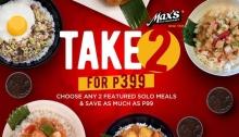 Max's Restaurant Take 2 for 399 FI