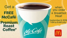 McDonald's FREE McCafe Grandparent's Day Treat FI
