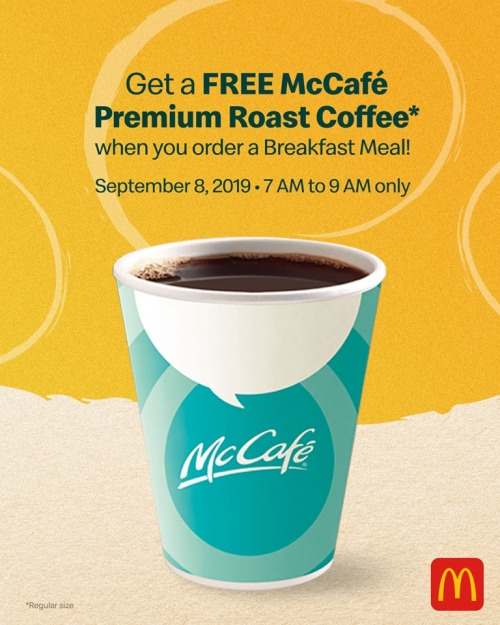 McDonald's FREE McCafe Grandparent's Day Treat
