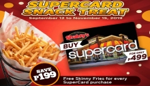 Shakey's Supercard Snack Treat FI