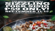 The Backyard Grill Sizzling Pork Sisig Promo FI
