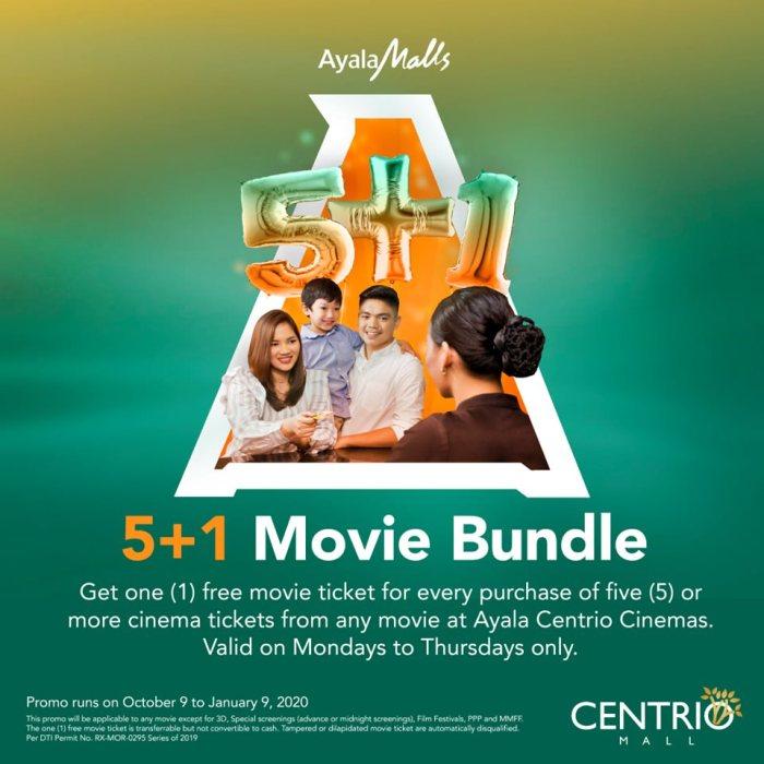 Ayala Centrio Cinemas 5+1 Movie Bundle