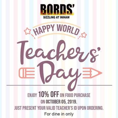 Bords' Sizzling at Inihaw Teachers Day promo
