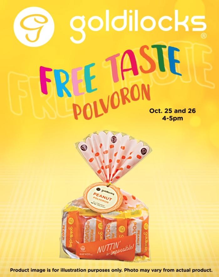 goldilocks free taste polvoron Oct25-26