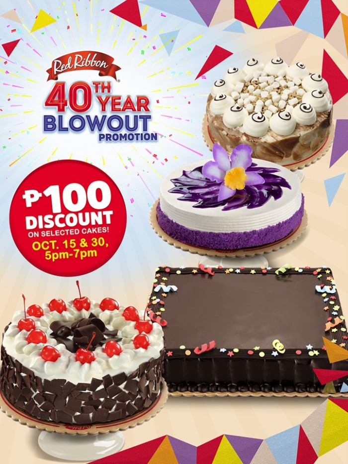 Red Ribbon 40th Year Blowout Promo