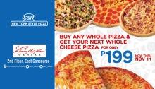S&R New York Style Pizza Limketkai - Next Whole Cheese Pizza for 199 FI