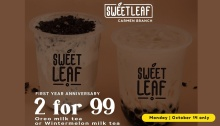 Sweet Leaf Bubble Tea Carmen Branch 1st Anniversary FI