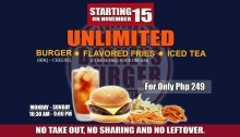 Barneys Burger Unlimited Burger Flavored Fries and Iced Tea FI