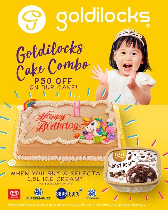 Goldilocks Cake Combo
